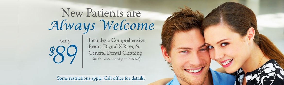 New Patients are always welcome, special offer only $89 Del Sur Dentistry San Diego 92127