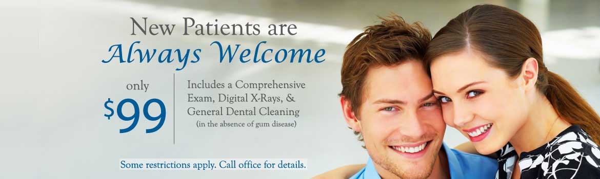 New Patients are always welcome, special offer only $99 Del Sur Dentistry San Diego 92127